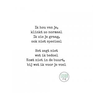 Genoeg Lieverlief – Kleine rijmpjes en gedichtjes &OJ98