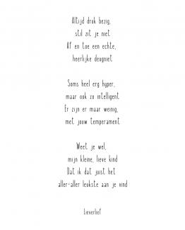 Wonderlijk Lieverlief – Kleine rijmpjes en gedichtjes IN-57